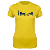 Ladies Syntrel Performance Gold Tee-Bushnell University Primary Mark
