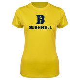 Ladies Syntrel Performance Gold Tee-Bushnell Athletic Mark