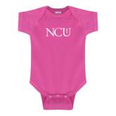 Fuchsia Infant Onesie-NCU Logo