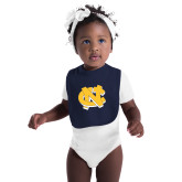 Navy Baby Bib-NC Interlocking