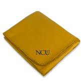 Gold Arctic Fleece Blanket-NCU Logo