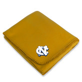 Gold Arctic Fleece Blanket-NC Interlocking