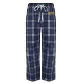 Navy/White Flannel Pajama Pant-Bushnell Athletics Wordmark