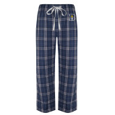 Navy/White Flannel Pajama Pant-B Icon