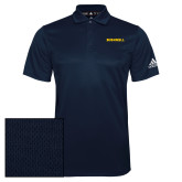Adidas Climalite Navy Grind Polo-Bushnell Athletics Wordmark