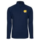 Sport Wick Stretch Navy 1/2 Zip Pullover-NC Interlocking
