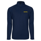 Sport Wick Stretch Navy 1/2 Zip Pullover-Bushnell Athletics Wordmark