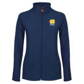 Ladies Fleece Full Zip Navy Jacket-CN Beacons