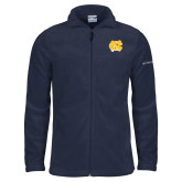 Columbia Full Zip Navy Fleece Jacket-NC Interlocking