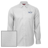 Red House White Diamond Dobby Long Sleeve Shirt-NCU Logo