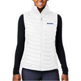Columbia Powder Lite  Ladies White Vest-Bushnell Athletics Wordmark