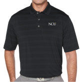 Callaway Horizontal Textured Black Polo-NCU Logo