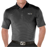 Callaway Core Stripe Black/White Polo-NCU Logo