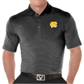 Callaway Core Stripe Black/White Polo-NC Interlocking