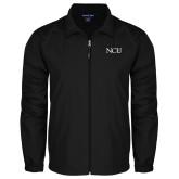 Full Zip Black Wind Jacket-NCU Logo