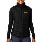 Columbia Powder Lite Ladies Black Vest-Bushnell Athletics Wordmark