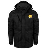 Black Brushstroke Print Insulated Jacket-NC Interlocking
