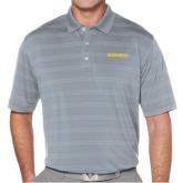Callaway Horizontal Textured Steel Grey Polo-Bushnell Athletics Wordmark