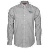 Red House Grey Plaid Long Sleeve Shirt-NCU Logo
