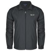 Full Zip Charcoal Wind Jacket-NCU Logo