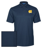 Navy Performance Fine Jacquard Polo-NC Interlocking