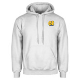 White Fleece Hoodie-NC Interlocking