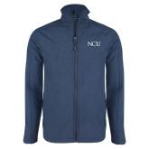 Navy Heather Softshell Jacket-NCU Logo