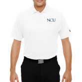 Under Armour White Performance Polo-NCU Logo