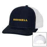 Richardson Navy/White Trucker Hat-Bushnell Athletics Wordmark
