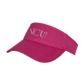 Pink Athletic Mesh Visor-NCU Logo