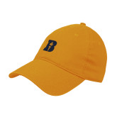 Gold Twill Unstructured Low Profile Hat-B Icon