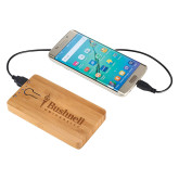 Bamboo 5,000 mAh Power Bank-Bushnell University Primary Mark Engraved