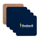 Hardboard Coaster w/Cork Backing 4/set-Bushnell University Primary Mark