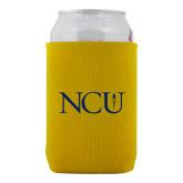 Neoprene Gold Can Holder-NCU Logo