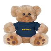 Plush Big Paw 8 1/2 inch Brown Bear w/Navy Shirt-Bushnell Athletics Wordmark