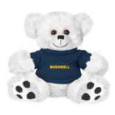 Plush Big Paw 8 1/2 inch White Bear w/Navy Shirt-Bushnell Athletics Wordmark