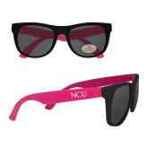 Black/Hot Pink Sunglasses-NCU Logo