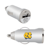 On the Go Silver Car Charger-NC Interlocking