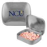 Silver Rectangular Peppermint Tin-NCU Logo