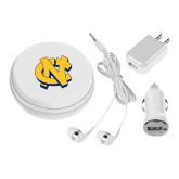 3 in 1 White Audio Travel Kit-NC Interlocking