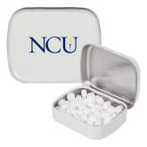 White Rectangular Peppermint Tin-NCU Logo