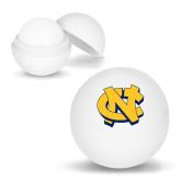 White Lip Moisturizer Ball-NC Interlocking
