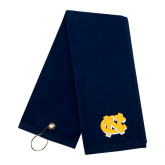 Navy Golf Towel-NC Interlocking