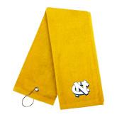 Gold Golf Towel-NC Interlocking