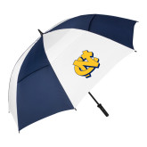62 Inch Navy/White Vented Umbrella-NC Interlocking
