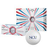 Callaway Supersoft Golf Balls 12/pkg-NCU Logo