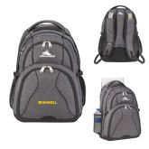 High Sierra Swerve Graphite Compu Backpack-Bushnell Athletics Wordmark