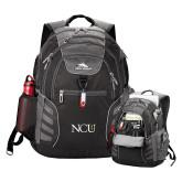 High Sierra Big Wig Black Compu Backpack-NCU Logo