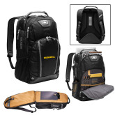 Ogio Bolt Black Backpack-Bushnell Athletics Wordmark