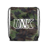 Camo Drawstring Backpack-Official Logo